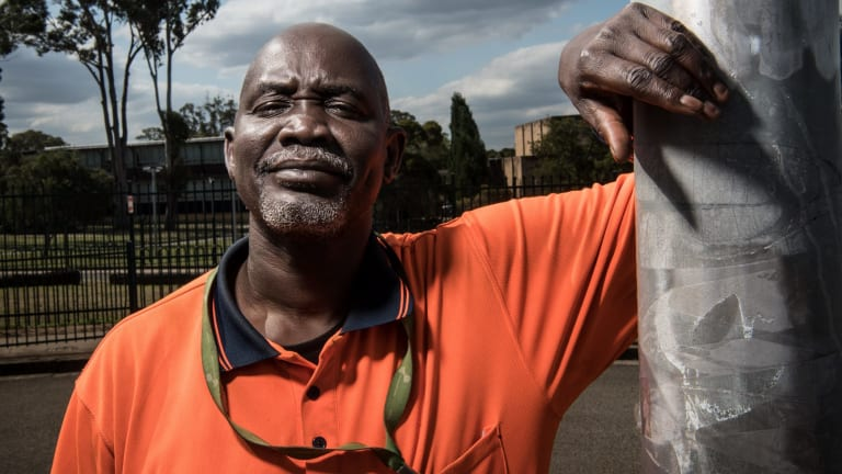 """Cleaner Arou Akot said he needed a """"job guarantee"""" - otherwise he would be homeless."""