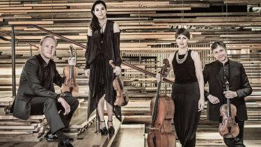 Australian String Quartet: From left, Dale Barltrop, Francesca Hiew, Sharon Grigoryan and Stephen King.