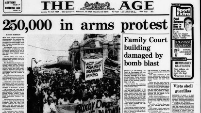 From the Archives, 1984: 250,000 Australians march for nuclear disarmament