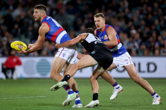 Marcus Bontempelli played a leading role again for the Bulldogs.