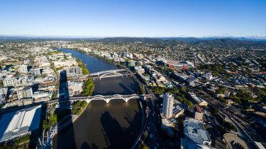 Brisbane River divide