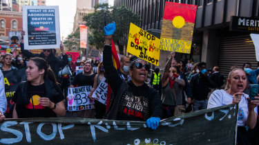 Hundreds marched in the Sydney Black Lives Matter protest after the Court of Appeal declared the rally authorised.
