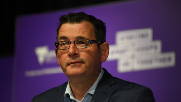 Premier Daniel Andrews says restrictions will change on Monday, but not before.