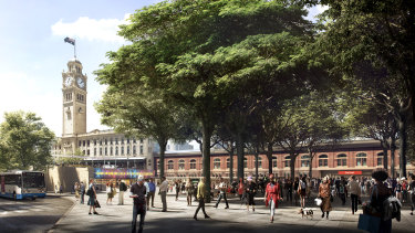 A revamped Railway Square will be connected to a major pedestrian thoroughfare at Central Station.