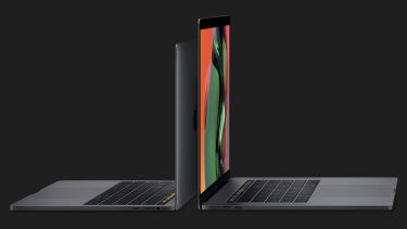The 2019 MacBook Pros. The 13-inch can now be equipped with a quad-core processor, while the 15-inch can go up to an octa-core.