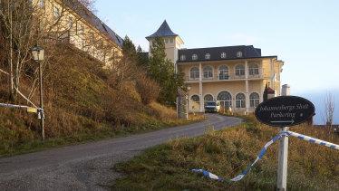 An exterior view of Johannesberg Castle, in Rimbo, 50km north of Stockholm, Sweden.