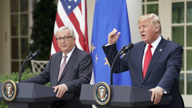 European Commission President Jean-Claude Juncker and Donald Trump are locked in their own trade deal stalemate.