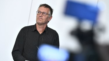 State epidemiologist Anders Tegnell of the Public Health Agency of Sweden.
