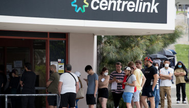 The federal government introduced JobKeeper at the height of the virus as queues outside Centrelinks surged during lockdowns.