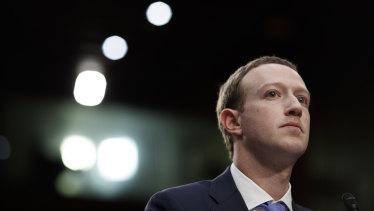 Facebook's chief executive, Mark Zuckerberg, fronts the US Senate in April.