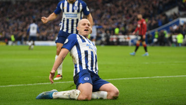 Aaron Mooy is on loan at Brighton from Huddersfield until the end of the season.
