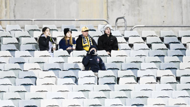 There were plenty of empty seats for the Brumbies' quarter-final against the Sharks last year.