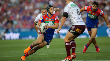 Dynamo: Knights fullback Kalyn Ponga was part of the all-conquering 2014 Churchie First XV.