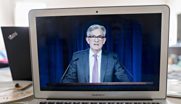 Fed chairman Jerome Powell, speaking in a virtual interview, pleaded for more fiscal support from the government.