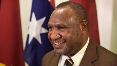 PNG Prime Minister James Marape.
