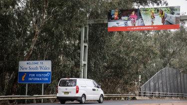 The NSW-Victoria border at Albury-Wodonga reopens tomorrow.