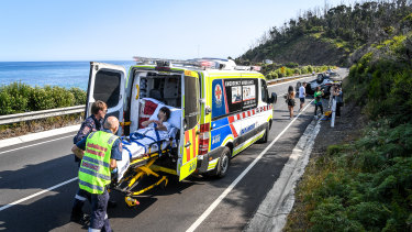 Overseas and interstate tourists are involved in about a third of the accidents on and near the Great Ocean Road.
