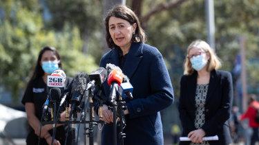 NSW Premier Gladys Berejiklian at Wednesday's COVID-19 press conference.