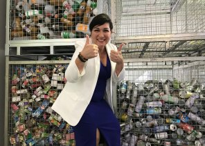 Environment Minister Leeanne Enoch gave Queenslanders the thumbs up in November 2019, when the state surpassed 1 billion recycled containers. Eight months later the scheme has collected 2 billion containers.