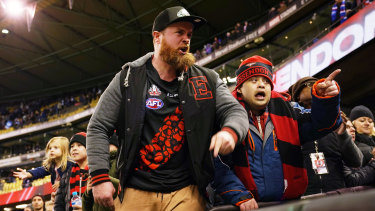 Matthew Lloyd said there was venom from Essendon fans in the crowd on Saturday night.