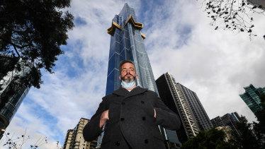 "Australia 108 resident Ken Willis says the creaking noises are ""terrifying""."