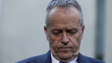 Opposition Leader Bill Shorten during a press conference on citizenship issues at Parliament House on Wednesday.