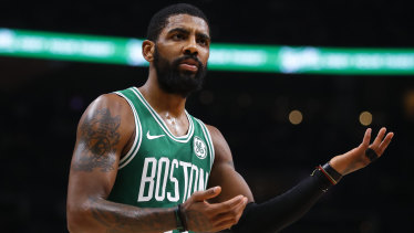 Boston's Kyrie Irving leads the voting in the east.