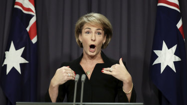 Michaelia Cash today.