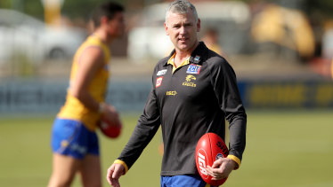 West Coast coach Adam Simpson has been to visit Willie Rioli.
