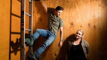 Legs on the Wall, senior creative producer Cecily Hardy and artistic director Joshua Thomson.