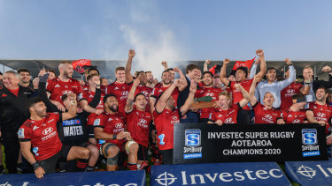 The Crusaders took out last year's Super Rugby Aotearoa title.