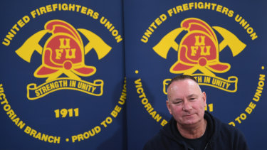 United Firefighters Union chief Peter Marshall.