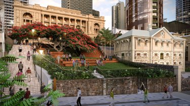 New concept images for a park at the back of Queen's Wharf have been released.