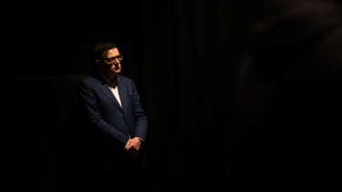 Daniel Andrews at his press conference on August 14.