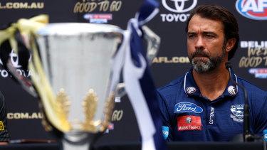 The legacy beckons: Geelong coach Chris Scott.