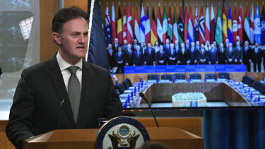 US Coordinator for Counter-terrorism Nathan Sales in Washington on Thursday.