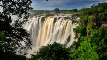 The Victoria Falls when in full flow.