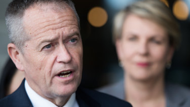Labor leader Bill Shorten and education spokeswoman Tanya Plibersek.