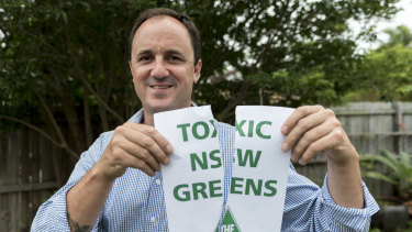 Fed up: Jeremy Buckingham quit the Greens last December.
