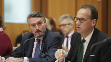 ASIC's Daniel Crennan, left, resigned on Monday morning. James Shipton, right, has stepped aside pending an investigation.