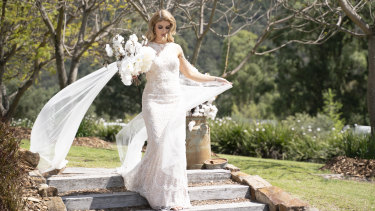WA musician and mental health worker Booka, 31, during her wedding on the new season of Married at First Sight.