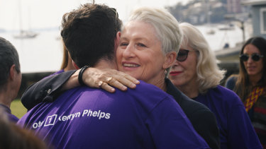 Kerryn Phelps thanks her supporters on Monday after conceding Wentworth to Dave Sharma
