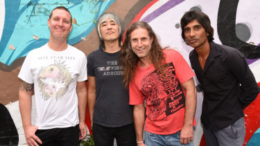 Punk legends the Hard-Ons (from left) Murray Ruse, Ray Ahn, Peter Black and Keish de Silva.