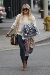 Off to the cleaners ... 'Younger' star Hilary Duff.