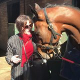 'John  would have loved this' ... Patricia Di Marco with Redzel.