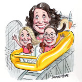 North Sydney mayor Jilly Gibson and her daughters Alanya Drummond and Maija Kernaghan. Illustration: John Shakespeare