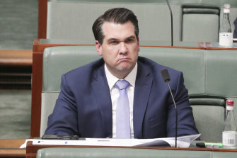 Assistant Treasurer and Minister for Housing Michael Sukkar at question time on Monday.