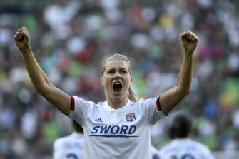 Hegerberg starred for Lyon in the UEFA Champion's League final