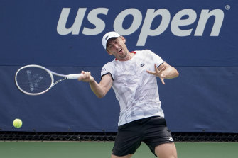 John Millman was no match for Swiss qualifier Henri Laaksonen in the first round of the US Open.