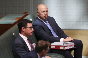 Home Affairs Minister Peter Dutton, pictured during Question Time in Canberra in December.